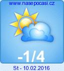 Předpověď počasí na pozítří - Nové Hutě