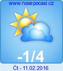 Předpověď počasí  na popozítří - Nové Hutě