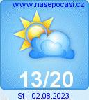 Předpověď počasí na zítra - Lipno
