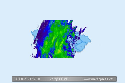 Srážková mapa