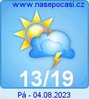 Předpověď počasí na zítra - Domažlice