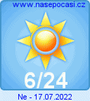 Předpověď počasí  na popozítří - Domažlice