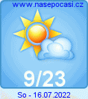 Předpověď počasí na zítra - Klatovy