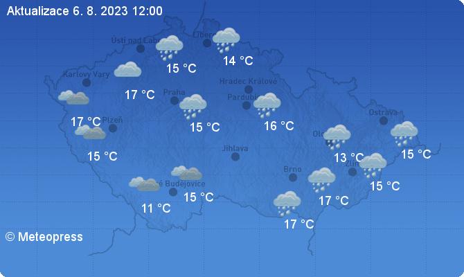 Aktuální stav počasí ČR - Meteopress