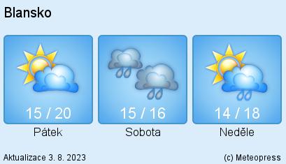 počasí pro Blansko